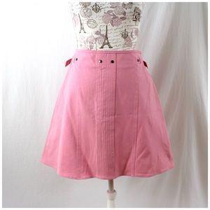 NWT Piazza Sempione Pink A-Line Skirt Italy 46